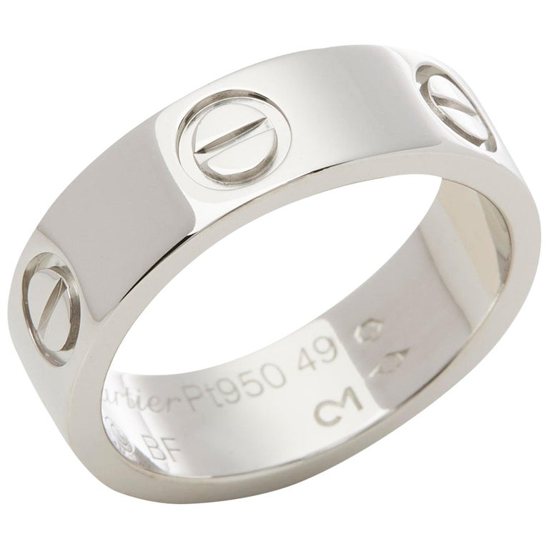 Cartier Platinum Love Ring For Sale