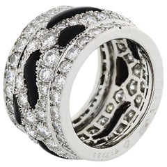 Cartier Platinum Nigeria Diamond and Onyx Eternity Band