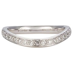 Cartier Platinum Trinity Ruban Single Row Wedding Band $4,350 Retail