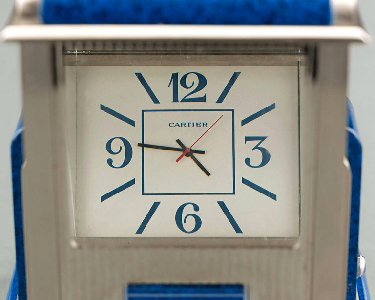 French Cartier Prism Mystery Clock For Sale