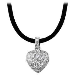 Cartier Puff Heart Diamond Necklace