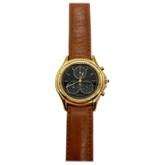 Cartier Quartz Chronograph Yellow Gold Watch