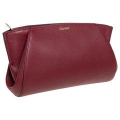 Cartier Red Leather C De Cartier Clutch