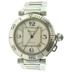Cartier Ref. 2790 Pasha de Cartier Seatimer White Dial Steel Watch