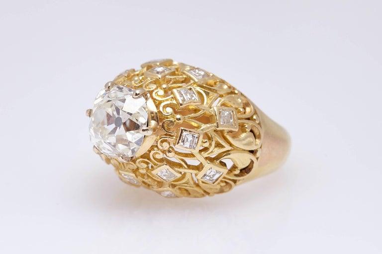 Women's Cartier Retro Diamond Gold Ring For Sale