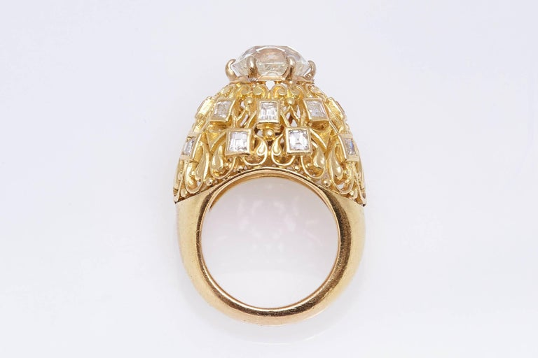 Cartier Retro Diamond Gold Ring For Sale 1