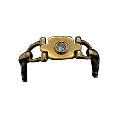 Cartier Retro Flexible Diamond 18 Karat Yellow Gold Ring