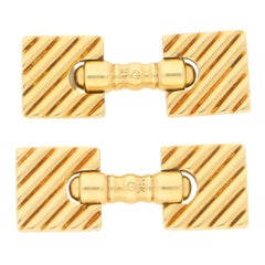 Cartier Retro Squared Cufflinks in Yellow Gold, circa 1940