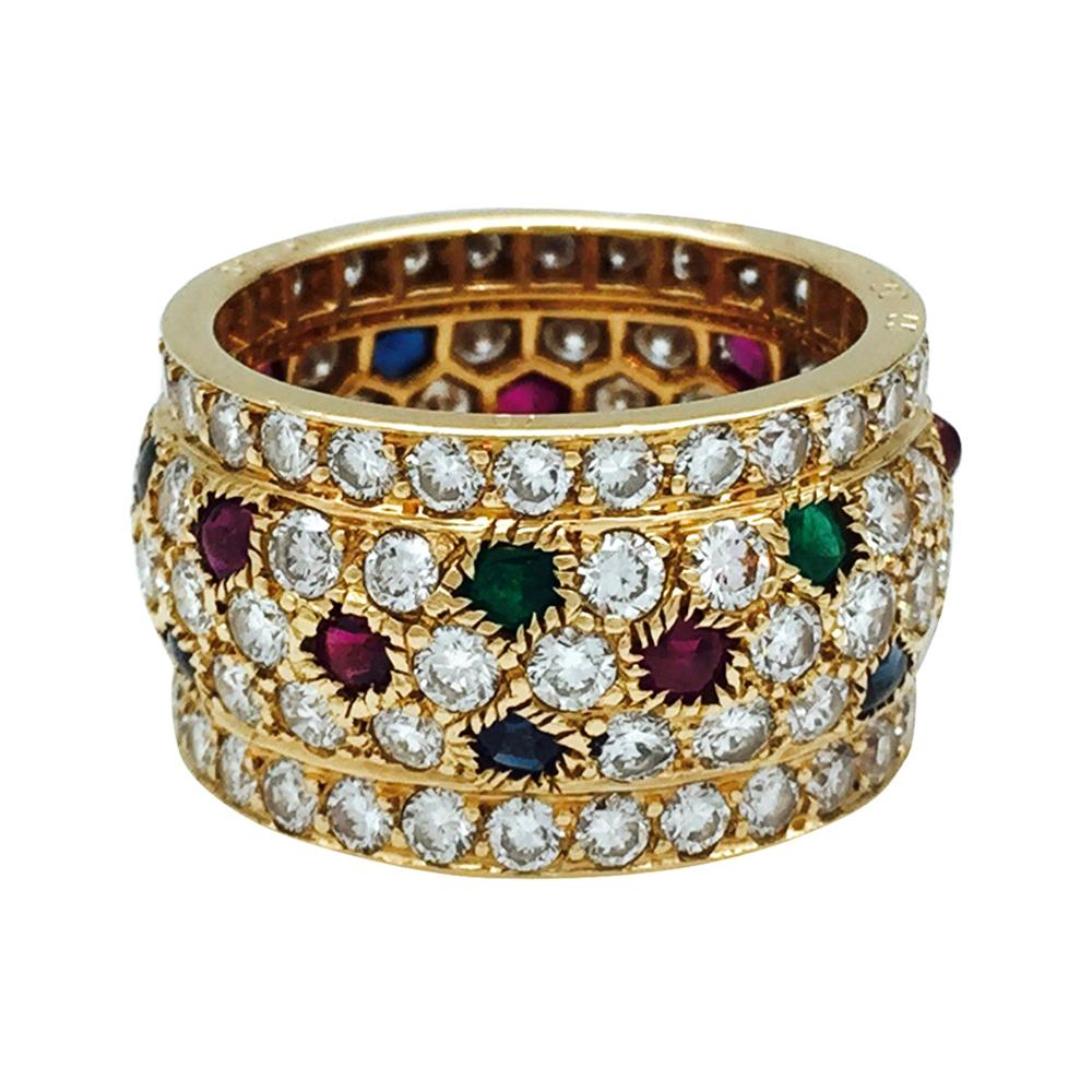 Cartier Ring, Nigeria Collection, Diamonds, Rubies, Sapphires and Em