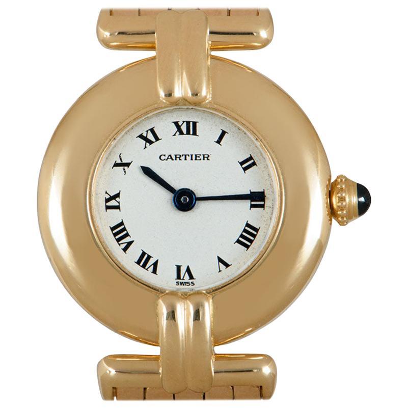 Cartier Rivoli Women's 18k Yellow Gold Silver Dial Watch