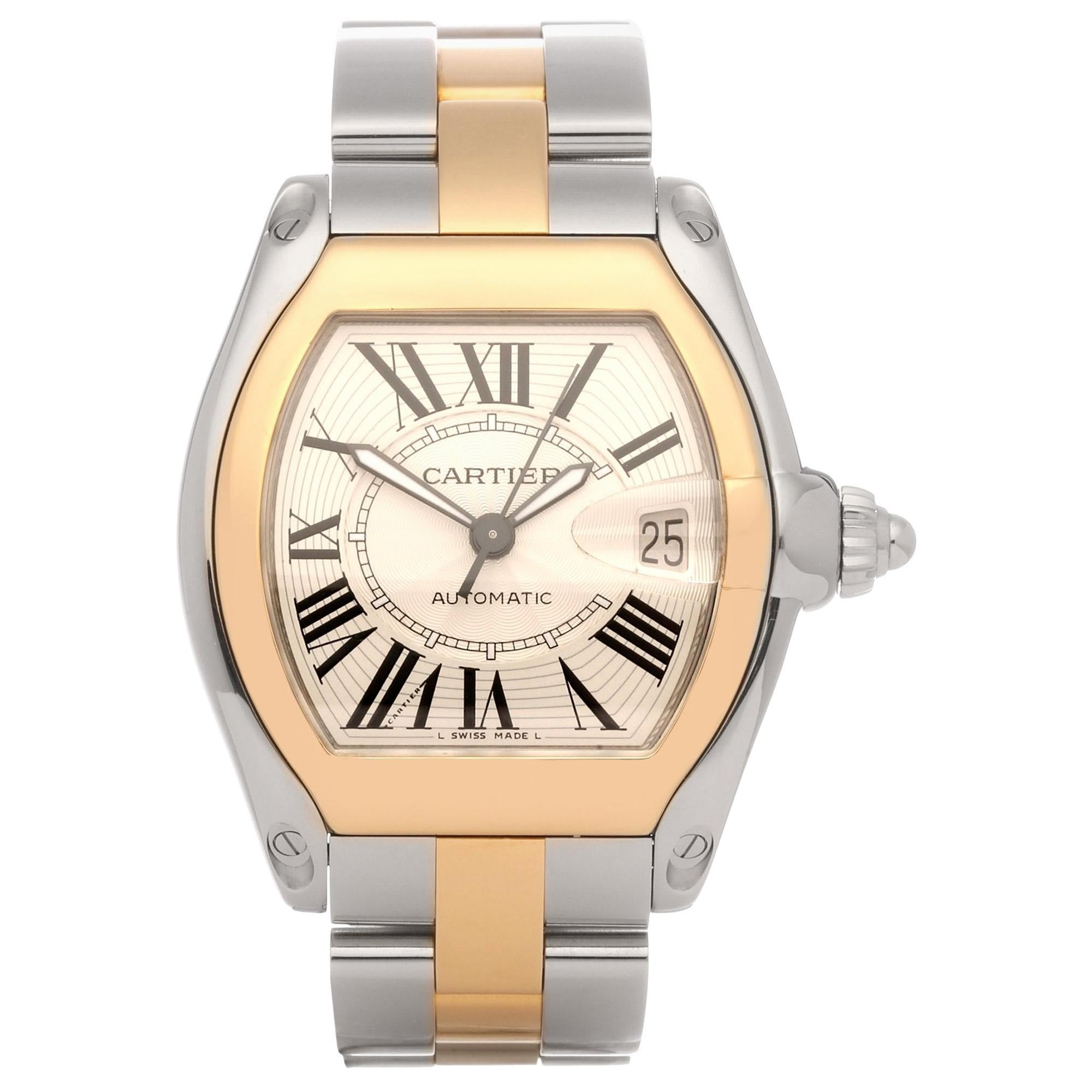 Cartier Roadste 2510 Men's Stainless Steel and Yellow Gold Large Automatic Watch