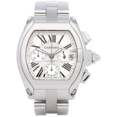 Cartier Roadster 0 2618 or W62019X6 Men's Stainless Steel Chronograph Watch