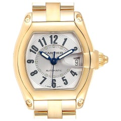 Cartier Roadster 18 Karat Yellow Gold Large Men's Watch W62003V1