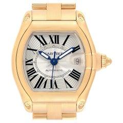 Cartier Roadster 18 Karat Yellow Gold Large Men's Watch W62005V1