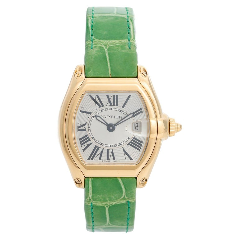 Cartier Roadster 18 Karat Yellow Gold Quartz W62018V1 For Sale