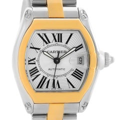 Cartier Roadster 18 Karat Yellow Gold Stainless Steel Men's Watch W62031Y4