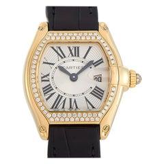 Cartier Roadster 18K Yellow Gold Diamond Bezel Quartz Ladies Watch 2676