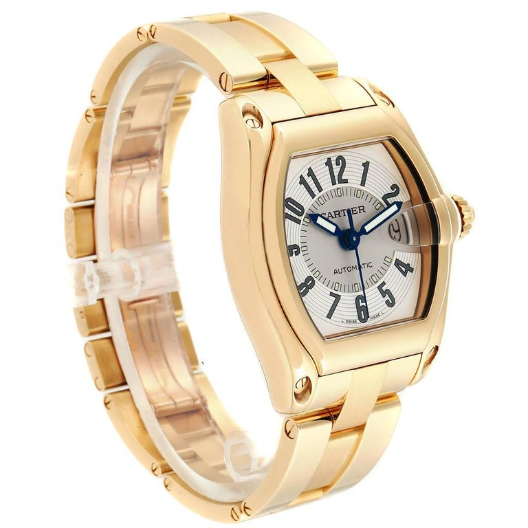 Cartier Roadster 18 Karat Yellow Gold Large Men's Watch W62005V1 1