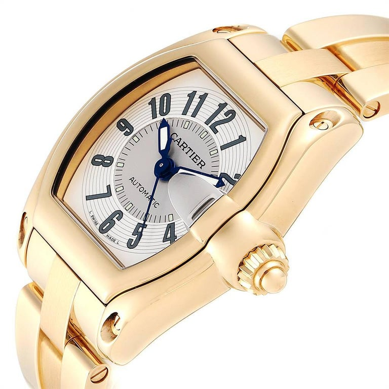 Cartier Roadster 18 Karat Yellow Gold Large Men's Watch W62005V1 2