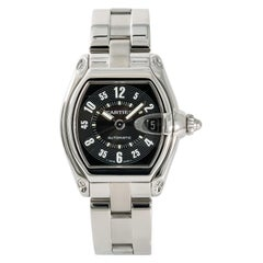 Cartier Roadster 2510 Men's Automatic Stainless Steel Watch Black Dial