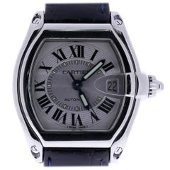 Cartier Roadster 2510, Millimeters Silver Dial, Certified and Warranty