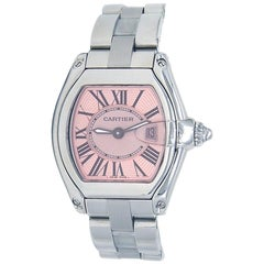 Cartier Roadster 2675, Pink Dial, Certified and Warranty