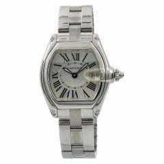 Cartier Roadster 2675 W62016V3 Women's Quartz Watch Silver Dial SS