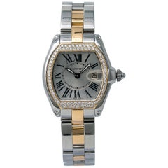 Cartier Roadster 2675 W62026Y4 Lady Quartz Diamond Bezel Watch 18 Karat