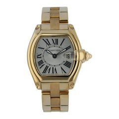 Cartier Roadster 2676 Yellow Gold Ladies Watch Box Papers