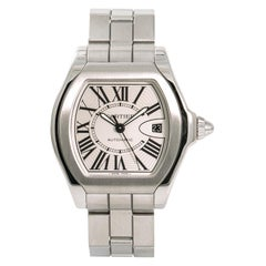 Cartier Roadster 3312 W6206017 Men's Automatic Watch Silver Dial SS