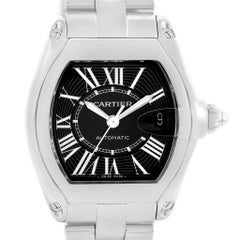 Cartier Roadster Black Dial Large Automatic Steel Watch W62041V3 Box