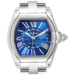 Cartier Roadster Blue Dial Automatic Steel Men's Watch W62048V3