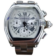 Cartier Roadster Chrono, Stainless Steel