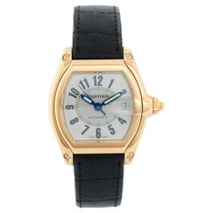 Cartier Roadster 18 Karat Yellow Gold Men's Watch