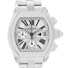 Cartier Roadster Chronograph Silver Dial Automatic Men's Watch W62019X6