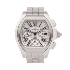 Cartier Roadster Chronograph Stainless Steel 3405 Gents Wristwatch
