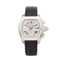 Cartier Roadster Chronograph Stainless Steel W62019X6 Gents Wristwatch