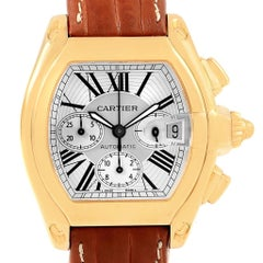 Cartier Roadster Chronograph XL 18 Karat Yellow Gold Men's Watch W62021Y2