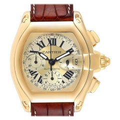 Cartier Roadster Chronograph XL 18 Karat Yellow Gold Men's Watch W62021Y3