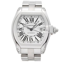 Cartier Roadster GMT Stainless Steel Men's W62032x6 or 2722