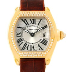 Cartier Roadster Ladies 18 Karat Yellow Gold Diamond Watch WE500160