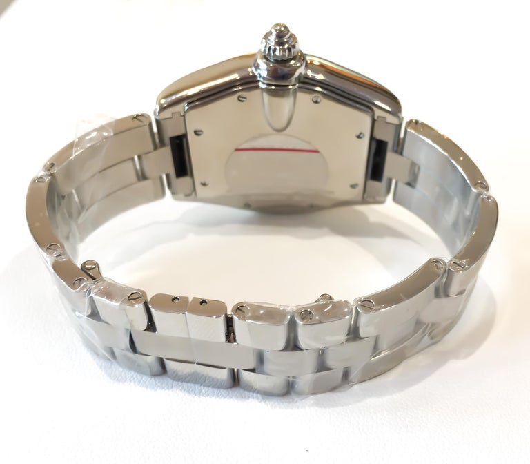 Women's or Men's Cartier Roadster Large Silver Dial w/Date Automatic Stainless Steel Watch #2510