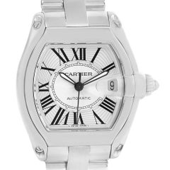 Cartier Roadster Large Silver Roman Dial Steel Men's Watch W62025V3
