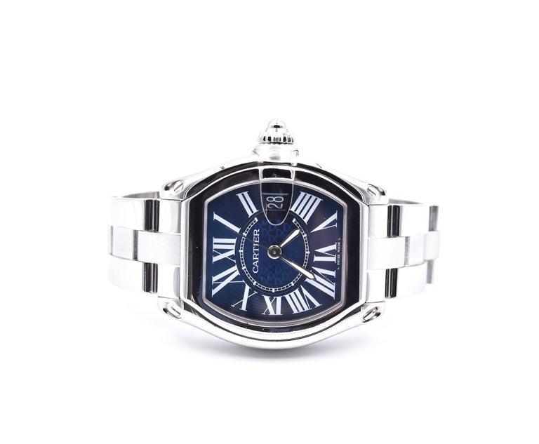 Cartier Roadster Men's XL 100th Anniversary Watch Ref. 3179 In Excellent Condition In Scottsdale, AZ
