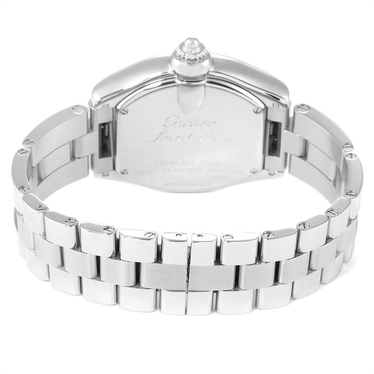Cartier Roadster Purple Mother of Pearl Dial Steel Ladies Watch W6206007 For Sale 3