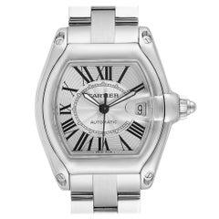 Cartier Roadster Silver Dial Large Steel Men's Watch W62025V3