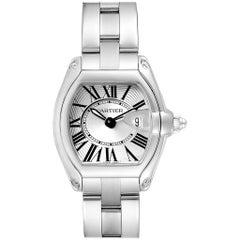 Cartier Roadster Silver Dial Roman Numerals Steel Ladies Watch W62016V3