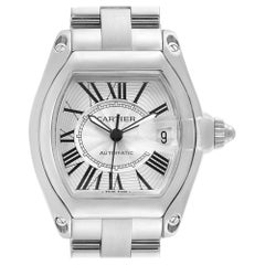 Cartier Roadster Silver Roman Dial Steel Men's Watch W62025V3