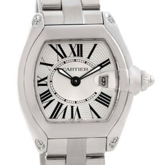 Cartier Roadster Small Silver Dial Ladies Steel Watch W62016V3