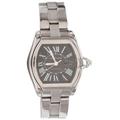 Cartier Roadster Stainless Steel 38mm Black Dial Watch